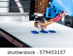 3d printer mechanism working... | Shutterstock . vector #579453157