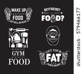 set of comic quote... | Shutterstock .eps vector #579466177