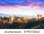 view of the famous alhambra... | Shutterstock . vector #579472063