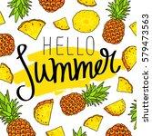 hello summer. the trend... | Shutterstock .eps vector #579473563