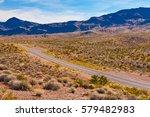 a road in the desert of nevada  ... | Shutterstock . vector #579482983