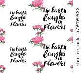 vintage vector flower patch... | Shutterstock .eps vector #579490933