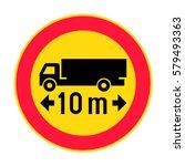 finland maximum vehicle length... | Shutterstock .eps vector #579493363