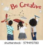 childhood playfyl creative... | Shutterstock . vector #579493783