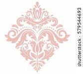 elegant vector pink ornament in ...   Shutterstock .eps vector #579544693