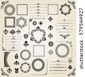 vintage set of horizontal ... | Shutterstock .eps vector #579544927