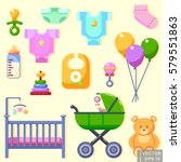 icons toys cloth and... | Shutterstock .eps vector #579551863