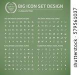 big icon set clean vector | Shutterstock .eps vector #579561037