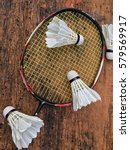 badminton racket and... | Shutterstock . vector #579569917