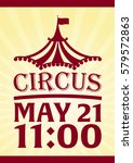 circus poster. amazing show.... | Shutterstock .eps vector #579572863