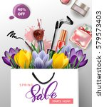 spring sale concept. spring... | Shutterstock .eps vector #579573403