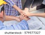 teamwork join hands  support...   Shutterstock . vector #579577327