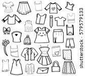 clothes doodle vector | Shutterstock .eps vector #579579133