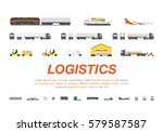 set transport for... | Shutterstock .eps vector #579587587