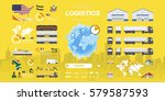 set of flat vector... | Shutterstock .eps vector #579587593
