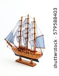 Ship Sailboat Wooden Model