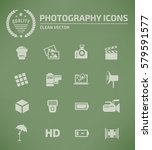 photography icon set clean...