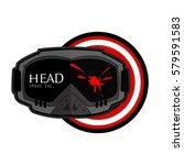 paintball goggles logo | Shutterstock .eps vector #579591583