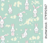 vector seamless pattern with... | Shutterstock .eps vector #579592567