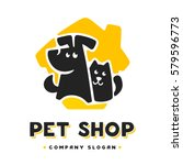 Stock vector vector logo design template for pet shops veterinary clinics and animal shelters homeless vector 579596773