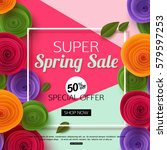 Spring Sale Banner Template...