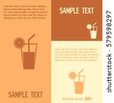 vector glass of juice icons  | Shutterstock .eps vector #579598297