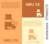 vector icon vial of medicine    Shutterstock .eps vector #579602173