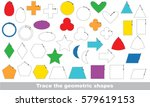 colorful geometric shapes to be ... | Shutterstock .eps vector #579619153