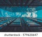 skyscraper buildings and sky... | Shutterstock . vector #579620647