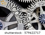 macro photo of tooth wheel... | Shutterstock . vector #579622717
