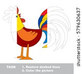 funny cock in vector to be... | Shutterstock .eps vector #579630637