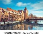 winter landscape of pegnitz... | Shutterstock . vector #579647833