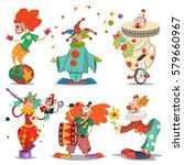 circus clown character in... | Shutterstock .eps vector #579660967