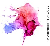 watercolor blot background ... | Shutterstock . vector #57967738