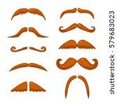 red mustache. vector hand...   Shutterstock .eps vector #579683023