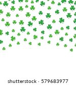 shamrock or clover leaves... | Shutterstock .eps vector #579683977