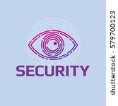 vector icon cybersecurity eye... | Shutterstock .eps vector #579700123