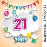 21 Years Birthday Design For...