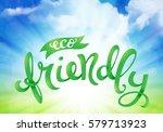 eco friendly conceptual... | Shutterstock .eps vector #579713923