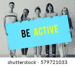 Small photo of Be active physical activity word