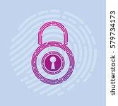 logo vector security smart home ...   Shutterstock .eps vector #579734173
