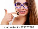 dentist and orthodontist...   Shutterstock . vector #579737707