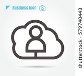 icon user business style is...