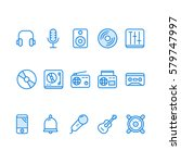 set of music related vector...