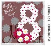 flower background vector. happy ... | Shutterstock .eps vector #579758857