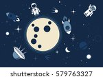 vector flat cosmos design... | Shutterstock .eps vector #579763327