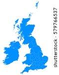 uk counties blur map | Shutterstock .eps vector #579766537