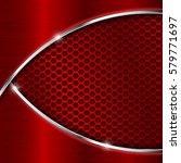 red perforated background with... | Shutterstock .eps vector #579771697