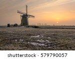 the meerburgermolen during a... | Shutterstock . vector #579790057