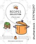recipe book menu template...   Shutterstock .eps vector #579790297
